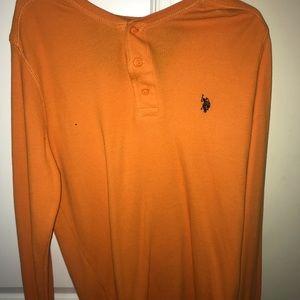 Orange U.S Polo Long-sleeve